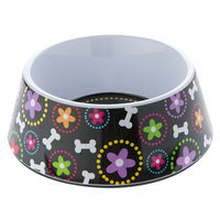 Top Paw® Bone and Floral Dog Bowl size: 3 C