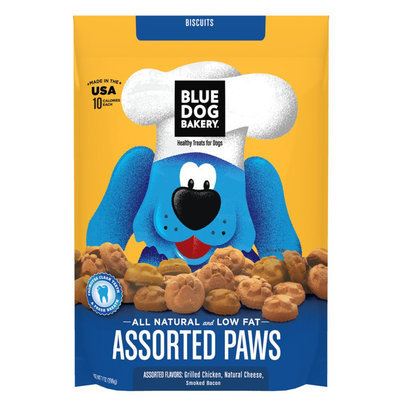 Blue Dog Bakery Assorted Paws - Natural, Chicken, Cheese and Bacon size: 7 Oz