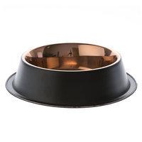 Top Paw® Black Steel Design Dog Bowl, Brown
