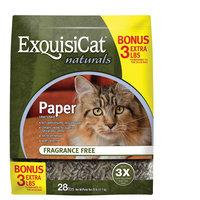ExquisiCat® Naturals Paper Cat Litter - Natural, Fragrance Free size: 28 Lb Bonus Bag