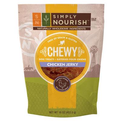Simply Nourish, Chewy Jerky Dog Treat - Natural, Grain Free, Gluten Free, Chicken size: 16 Oz