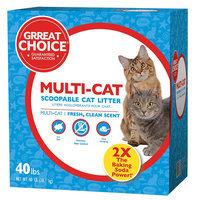 Grreat Choice® Multi-Cat Scoopable Cat Litter size: 40 Lb