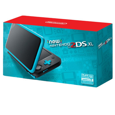 Nintendo, New 2DS XL - Black and Turquoise