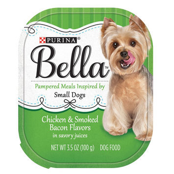 Purina® Bella Small Dog Food - Chicken and Smoked Bacon size: 3.5 Oz