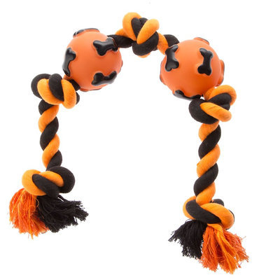 Thrills & Chills Thrills and Chills, Pet Halloween 5 Knot Rope Dog Toy