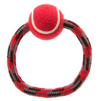 Top Paw® Circle Rope with Tennis Ball Dog Toy