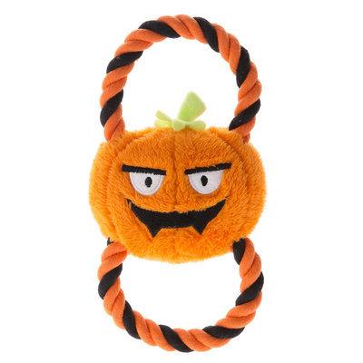 Thrills & Chills Thrills and Chills, Pet Halloween Figure 8 Pumpkin Dog Toy