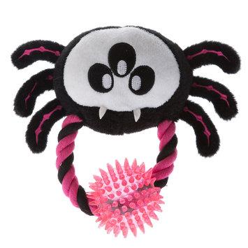 Thrills & Chills Thrills and Chills, Pet Halloween Spiky Ball Spider Dog Toy