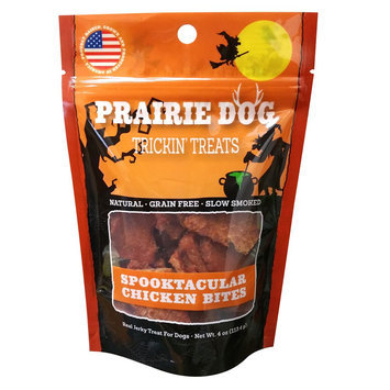 Prairie Dog Spooktacular Chicken Bites Dog Treat - Natural, Grain Free, Chicken size: 4 Oz