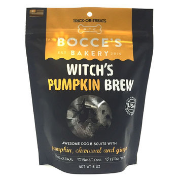 Bocce's Bakery Witch's Pumpkin Brew Dog Treat - Natural, Pumpkin, Charcoal and Ginger size: 5 Oz