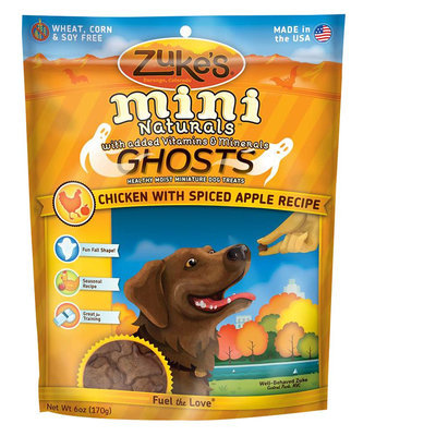 Zukes Zuke's® Mini Naturals, Ghosts Dog Treat - Natural, Chicken and Apple size: 6 Oz