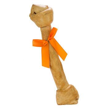Thrills & Chills Thrills and Chills, Pet Halloween Rawhide Bone Dog Treat - Pumpkin Spice size: 14 in