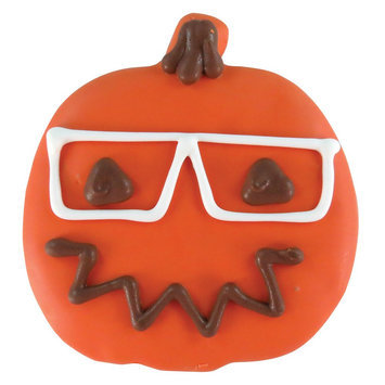 Thrills & Chills Thrills and Chills, Pet Halloween Hipster Pumpkin Dog Treat size: 1 Count
