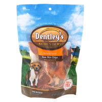 Dentley's® Nature's Chews Ham Skin Chips Medium Dog Treat - Natural size: 6 Oz