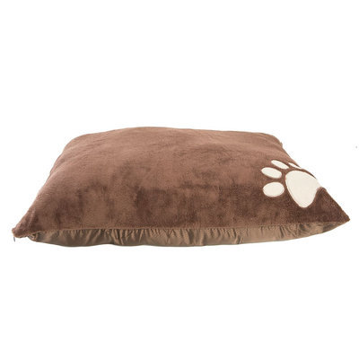 Grreat Choice® Paw Pillow Dog Bed, Brown