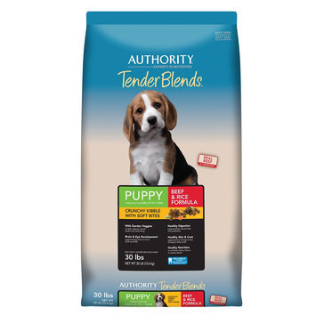 Authority® Tender Blends Puppy Food - Beef and Rice size: 30 Lb