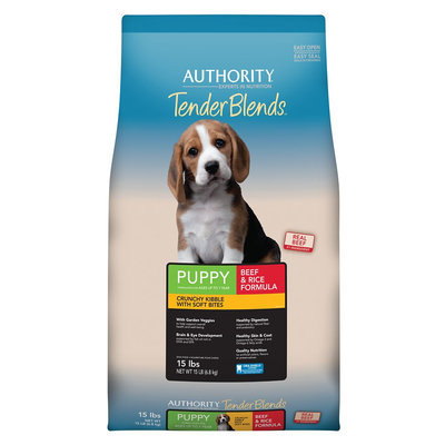 Authority® Tender Blends Puppy Food - Beef and Rice size: 15 Lb