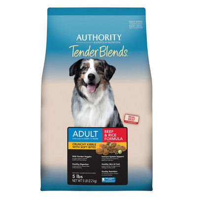 Authority® Tender Blends Adult Dog Food - Beef and Rice size: 5 Lb