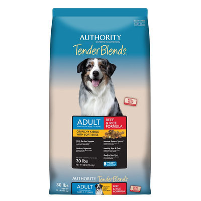 Authority® Tender Blends Adult Dog Food - Beef and Rice size: 30 Lb