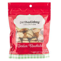 Pet Holiday, Dentley's® Festive Rawhide Mini Knot Bones Dog Treat - Chicken size: 7 Count