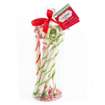 Pet Holiday, Dentley's® Festive Rawhide Twist Canes Dog Treat size: 12 Count