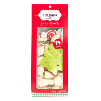 Pet Holiday, Dentley's® Festive Rawhide Canes Dog Treat Value Pack - 14ct size: 14 Count