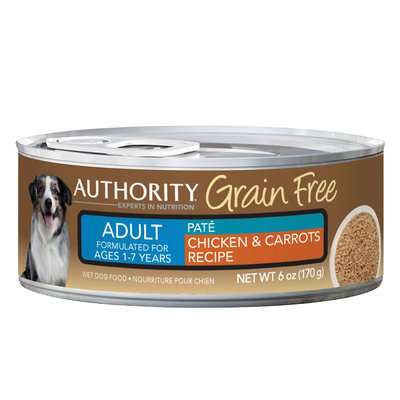 Authority® Grain Free Adult Dog Food - Chicken and Carrots size: 6 Oz
