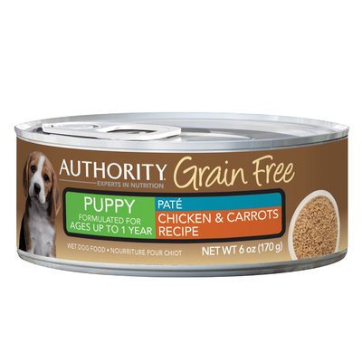 Authority® Grain Free Puppy Food - Chicken and Carrots size: 6 Oz