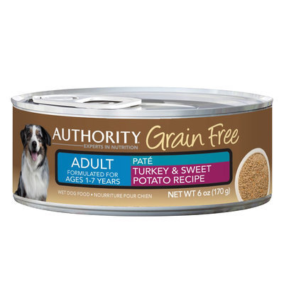Authority® Grain Free Adult Dog Food - Turkey and Sweet Potato size: 6 Oz