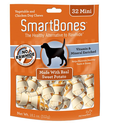 SmartBones® Mini Chews Dog Treat - Sweet Potato size: 32 Count