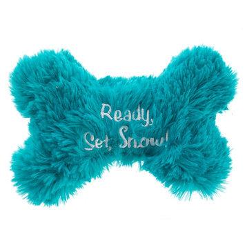 Pet Holiday, Winter Bone Dog Toy, Blue