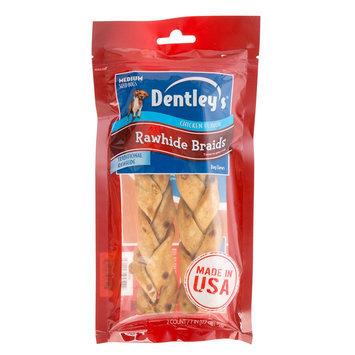 Dentley's® Rawhide Braids Medium Dog Treat - Chicken size: 7 in