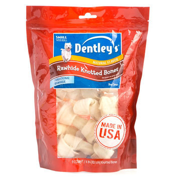 Dentley's® Rawhide Knotted Bones Small Dog Treat size: 4 in