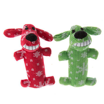 Pet Holiday, Bobo Traditional 2-Pack Short Dog Toy