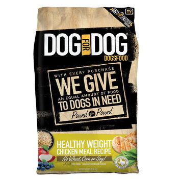 Dog For Dog DogsFood Healthy Weight Adult Dog Food - Chicken Meal size: 22 Lb
