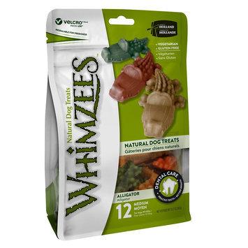 Whimzees Dental Care Alligator Medium Dog Treat - Natural, Gluten Free, Vegetarian size: 12 Count