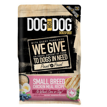 Dog For Dog DogsFood Small Breed Dog Food - Chicken Meal size: 4 Lb
