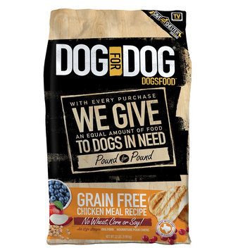 Dog For Dog DogsFood - Grain Free, Chicken Meal size: 22 Lb