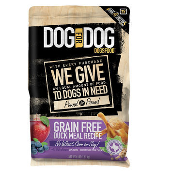 Dog For Dog DogsFood - Grain Free, Duck Meal size: 4 Lb