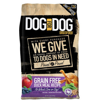 Dog For Dog DogsFood - Grain Free, Duck Meal size: 22 Lb