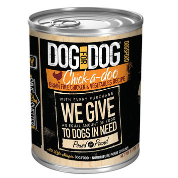 Dog For Dog DogsFood - Grain Free, Chicken and Vegetable size: 13 Oz