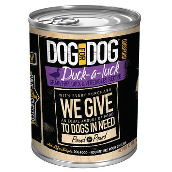 Dog For Dog Duck-a-Luck Dog Food - Grain Free, Duck and Vegetables size: 13 Oz