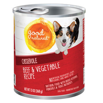 Good Natured, Dog Food - Natural, Beef and Vegetable, Casserole size: 13 Oz