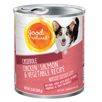 Good Natured, Dog Food - Natural, Chicken, Salmon and Vegetable, Casserole size: 13 Oz