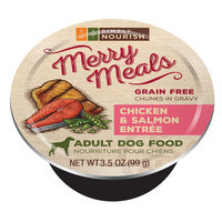 Simply Nourish, Merry Meals Adult Dog Food - Grain Free, Chicken and Salmon size: 3.5 Oz