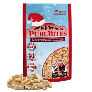 PureBites® Holiday Dog Treat - Natural, Freeze Dried, Turkey and Sweet Potato size: 2.5 Oz