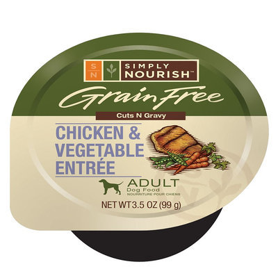 Simply Nourish, Adult Dog Food - Grain Free, Chicken and Vegetable size: 3.5 Oz
