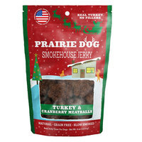 Prairie Dog Prarie Dog Smokehouse Jerky Dog Treat - Natural, Grain Free, Turkey and Cranberry Meatballs size: 4 Oz