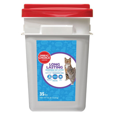 Grreat Choice® Long Lasting Cat Litter - Scoopable, Multi-Cat, Fragrance Free size: 35 Lb