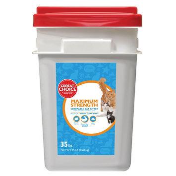 Grreat Choice® Maximun Strength Cat Litter - Scoopable, Muliti-Cat, Fresh Scent size: 35 Lb